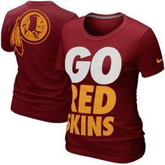 Nike Washington Redskins Ladies Go Big T-Shirt - Burgundy