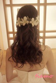「 ドレスから和装へガラリとチェンジ!お洒落で可愛い花嫁さまの一日♡ 」の画像|大人可愛いブライダルヘアメイク『tiamo』の結婚カタログ|Ameba (アメーバ) Wedding Tiara Hairstyles, Hairdo Wedding, Braided Hairstyles, Hair Ornaments, Locks, Braids, Hair Beauty, Make Up, Hair Styles