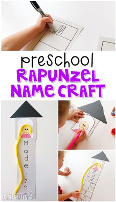 Do with red string and Rahab but have kids make their names Preschool Lesson Plans, Preschool Themes, Preschool Activities, Fairy Tale Activities, Disney Activities, Fairy Tale Crafts, Fairy Tale Theme, Rapunzel, Disney Lessons