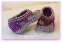 Flip-Flop für Kleinkinder, Sephionas-Wolltraum, gehäkelt, Baby schuhe, crochet booties
