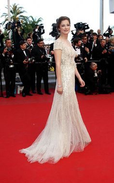 """Alexandra Maria Lara - Elie Saab Haute Couture  Actress Alexandra Maria Lara attends the """"On The Road"""" premiere wearing Elie Saab Couture during the 65th Annual Cannes Film Festival at Palais des Festivals on May 23, 2012, in Cannes."""