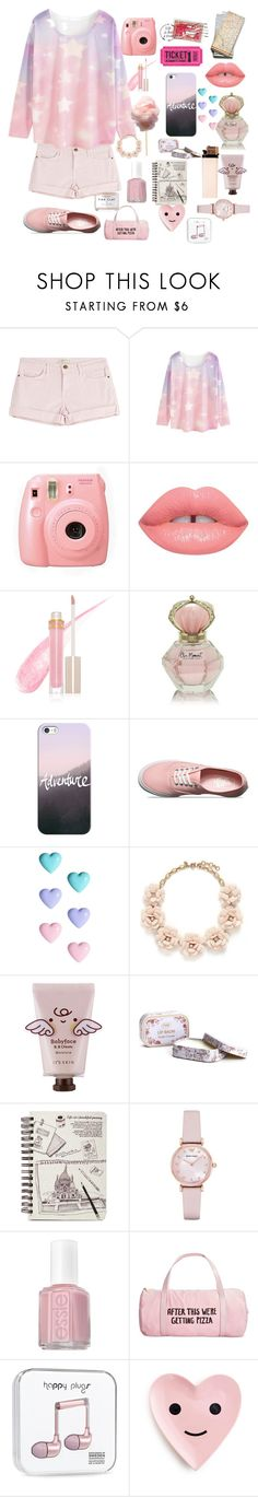 """""""Road Trip.  xx"""" by cory-price ❤ liked on Polyvore featuring Current/Elliott, WithChic, Fuji, Lime Crime, Stila, Casetify, Vans, River Island, J.Crew and Emporio Armani"""
