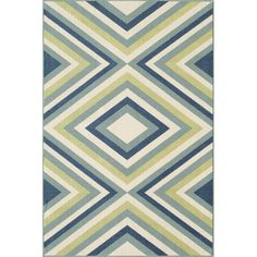 Found it at AllModern - Baja Blue/Green Indoor/Outdoor Area Rug