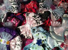 Hair bows and other hair accesories that are homemade come check us out at www.facebook.com/bowsby friends!