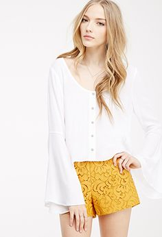 Baroque Lace Shorts | Forever 21 - 2000080497