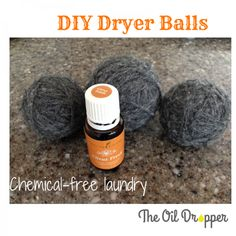 Get rid of Dryer Sheets once and for all! Learn how to use #essentialoils and wool dryer balls! http://www.theoildropper.com/diy-wool-dryer-balls/