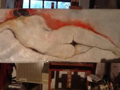 Donna distesa. Laying woman. Rita Pedullà.