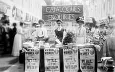 A suffragette stand at the Women's Exhibition of 1909, in a photograph taken by Christina Broom, the first British female press photographer