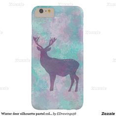 #Winter #deer silhouette #pastel color #iPhone 6+ #case