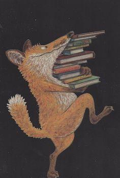 ¡Zorro no te lo lleves! Art And Illustration, Fuchs Illustration, Reading Art, Fox Art, World Of Books, Book Images, I Love Books, Books To Read, Book Nerd