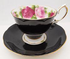 ROYAL ALBERT Bone China Tea Cup & Saucer Set ROSES England