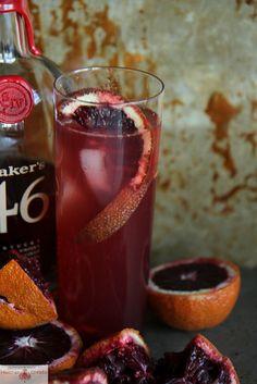 Blood Orange Bourbon Smash | via Heather Christo
