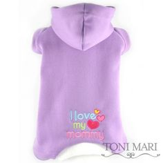 Cute Dog Pajamas telling everyone how much they love their mom, super soft and comfy!