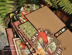 Tag Set with Paper Stitching Tutorial Simple Embroidery, Embroidery Stitches, Safari Adventure, Mini Album Tutorial, Graphic 45, Twine, Mini Albums, Cross Stitch, Creatures