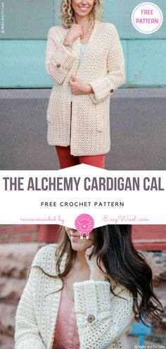 The Alchemy Cardigan CAL Free Crochet Pattern on easywool.com