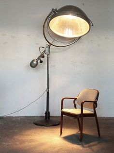 Mid Century Medical Lamp : height 8'