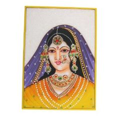 Handmade Gifts From India Embossed Miniature Painting On Marble Plate Of A Maharani and The Indian Jewelr: Amazon.co.uk: Kitchen & Home