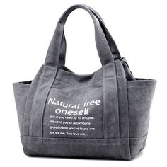 Women Canvas Tote Handbags Casual Printing Shoulder Bags Capacity Shopping Bags - US$25.73