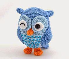 Receita para coruja de crochet