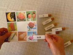 Dit is een spel gemaakt om in het 1ste leerjaar de geleerde woorden in te oefenen. De leerlingen moeten de woorden lezen, begrijpen en op de juiste afbeelding vastspelden.