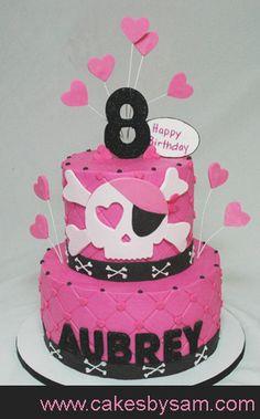 Pink scull cake - Sadie