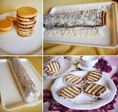 Csíkos csokis süti - sütés nélkül Vanilla Cake, Deserts, Muffin, Dessert Recipes, Food And Drink, Sweets, Cheese, Cookies, Kitchen