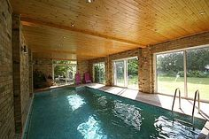 Heated indoor swimming pool in the grounds