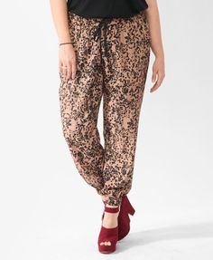 Ink Blot Print Joggers | FOREVER21 - adorable and comfy.... Love shoes!