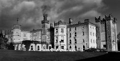 Cabra Castle, Co. Cavan, Ireland.  There's a hanging tree, a horse and carriage apparition (and sound!), a crying baby ghost and arguing spirits. Many guests have experiences of noises, apparitions, rattling doors and the feeling of being watched, but nothing too terrifying has been reported...yet.