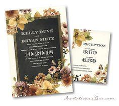 Autumn Bouquet Wedding Invitation