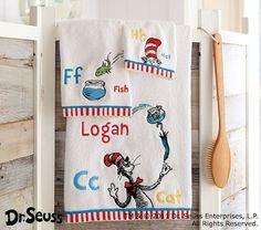 Dr. Seuss™ Bath Towels | Pottery Barn Kids