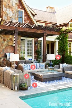 4 Indoor Decorating Moves to Take Outside  Because your patio should be as comfortable as your living room. 0 How to Decorate a Patio - Exterior Decor Ideas