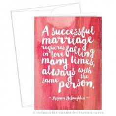 Successful Marriage Greeting Card