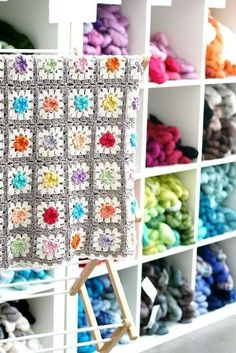 Granny square pattern:Found Here.