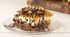 Baklava with crème patisserie by Greek chef Akis Petretzikis! Make this recipe for a different kind of baklava with crème patisserie, and impress everyone! Greek Sweets, Greek Desserts, Party Desserts, Greek Recipes, Greek Pastries, Tiramisu, Waffles, Baking, Breakfast