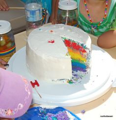 "Cannot wait to make this for someone!  Rainbow Party - the Easy ""Cheat"" version of Rainbow cake."