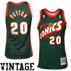 Seattle SuperSonics  95 Gary Payton Authentic Jersey 93571dec4