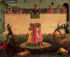 FRA ANGELICO Cosme y Damián ante la hoguera (1442) Galería Nacional, Dublín.