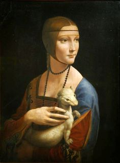 Lady with an Ermine - Leonardo da Vinci For more visit and like Opera Italia https://www.facebook.com/pages/Opera-Italia/446660202084939?ref=hl