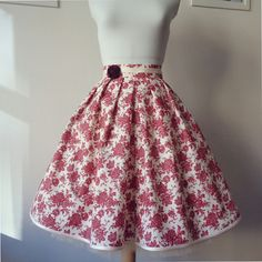 Iris Burgundy cotton skirt