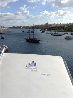 "#sketch at ""La Valletta"" in #malta by Cristina Sammarco.  #mediterraneanart"