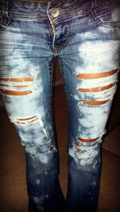 more ripped jeans I made <3