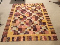 Indian Corn quilt made by Sharon Theriault