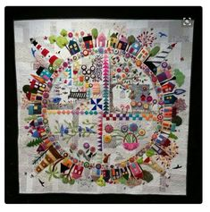 Wow, just found this version of my quilt design on Pinterest. Don't know who it belongs to but I love it #woolfeltapplique #roundthegardenquilt