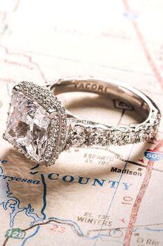 Tacori Engagement Rings Youll Never Forget ❤ See more: http://www.weddingforward.com/tacori-engagement-rings/ #weddings