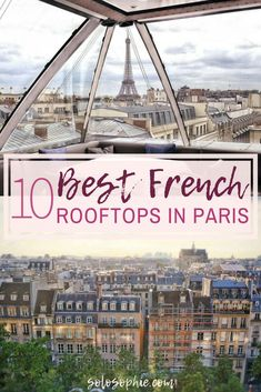 Parisian rooftops, terraces, and bars you'll want to hang out in. A quick guide to the best rooftop bars in Paris, France as where as where to find amazing panoramic views in the French capital! view Best Parisian Rooftops & Top Outdoor Terraces in Paris! Paris Travel Guide, Europe Travel Tips, European Travel, Travel Guides, Places To Travel, Travel Destinations, Travel Goals, Asia Travel, European Vacation