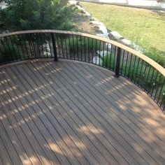 exciting curved trex decking with curved deck railing
