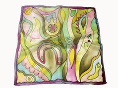 Fesd meg saját selyemkendődet a kezdő selyemfestés tanfolyamon!  www.silkyway.hu/selyemfestes-tanfolyam Silk Art, Silk Scarves, Art Paintings, Silk, Pintura, Scarf Head, Silk Painting, Scarves, Painted Canvas