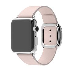 For Womens 38mm Apple Watch, Apple Watch not Included Large Fit (Fits wrists 160-180mm) Soft Pink Leather Band - Women's Smart Watches for Sport, Fitness and Fashion - http://amzn.to/2ifqI9j