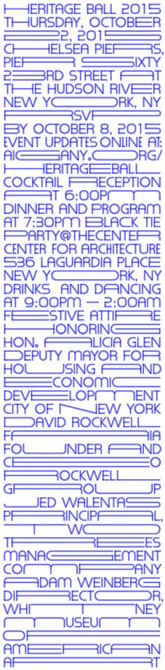 Jen's mutable, moving typeface for AIA gala expands and contracts.Natasha Jen's mutable, moving typeface for AIA gala expands and contracts. Logo Design, Type Design, Layout Design, Branding, Corporate Design, Inspiration Typographie, Schrift Design, Monospace, Type Posters